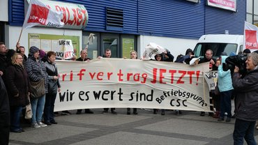 Protestkundgebungen CSC in Berlin